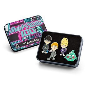 Mob Psycho 100 Pin Set in Collectible Tin