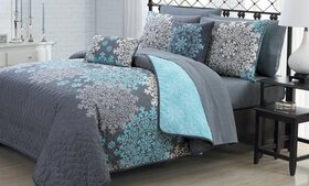 Medallion Quilt Set with Sheet Set and Throw Pillo