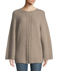 Neiman Marcus Cashmere Collection Cashmere Cable-F