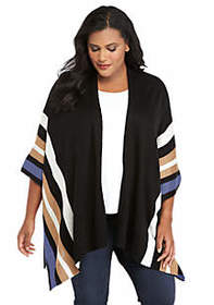 The Limited Plus Size Multi Stripe Poncho