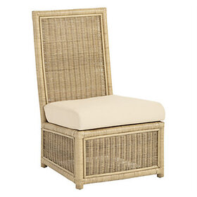 Suzanne Kasler Southport Rattan Slipper Chair