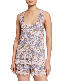 Jessica Simpson Flower in Her Hair Paisley Cami &