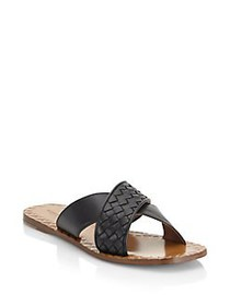 Bottega Veneta Crisscross Flat Sandals BLACK
