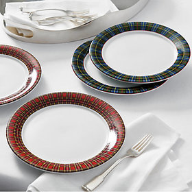 Suzanne Kasler Plaid Salad Plates accessory and ta