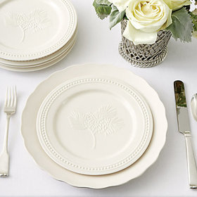 Pinecone Salad Plates accessory and tabletop displ