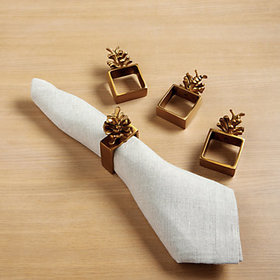 Pinecone Napkin Rings accessory and tabletop displ