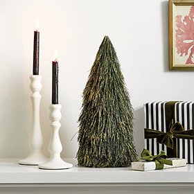 Pine Needle Tabletop Christmas Tree holiday decora