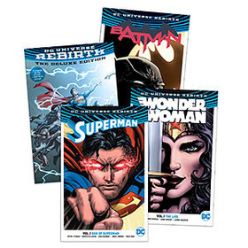 DC Rebirth Exclusive 4-Book Bundle with Poster