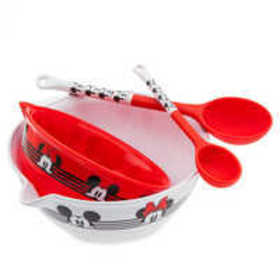 Disney Mickey and Minnie Mouse Mixing Bowl and Spo