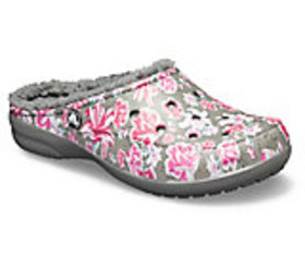 Women's Crocs Freesail Graphic Fuzz-Lined Clog