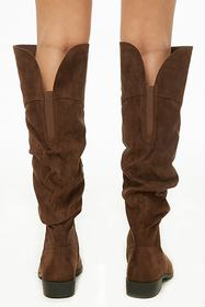Forever21 Slouchy Faux Suede Boots