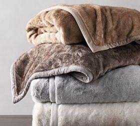 Pottery Barn Faux Fur Alpaca Throws