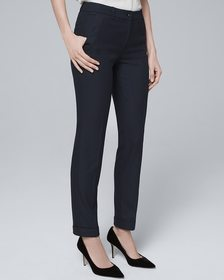 Houndstooth Suiting Slim Ankle Pants