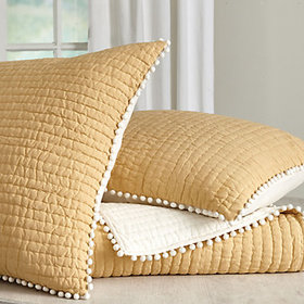 Audree Pom Pom Quilted Bedding - Limited Colors