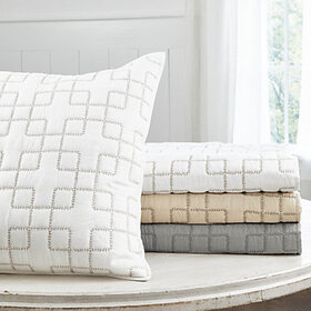 Geometric Stitched Quilted Bedding