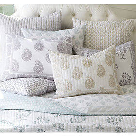Ava Block Print Quilted Sham