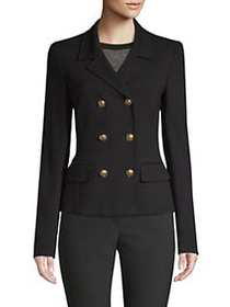 Escada Beyo Jersey Double-Breast Jacket BLACK