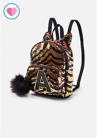 Justice Tiger Initial Flip Sequin Mini Backpack