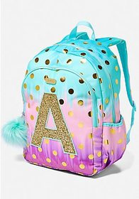 Justice Ombre Foil Dot Initial Backpack
