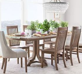 Pottery Barn Linden Dining Table, Belgian Gray
