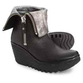 Fly London YEX668FLY Wedge Boots - Leather (For Wo
