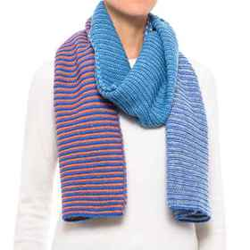 PWDR Room Multi-Stripe Knit Scarf (For Women) in R