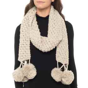 Lemon Popcorn Meadow Scarf (For Women) in Moonbeam
