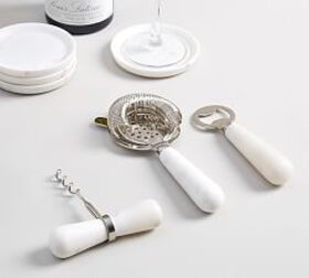 Pottery Barn White Marble Bar Tools