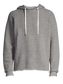 IRO Raw Edge Cotton Hoodie GREY