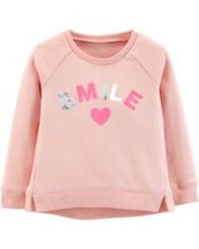 carters Toddler Girl Cozy Sequin Pullover