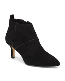 reveal designer Suede Pointy Toe Booties