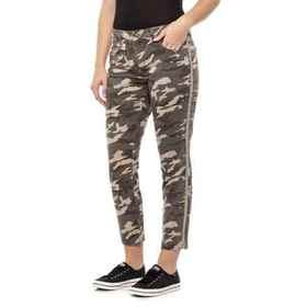 JAG Olive Evans Camo Skinny Pants (For Women) in O