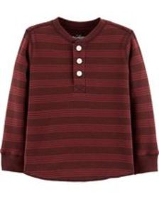carters Toddler Boy Striped Henley Thermal