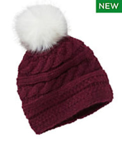 LL Bean Women's Chunky Knit Pom-Pom Hat