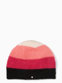 brushed colorblock beanie