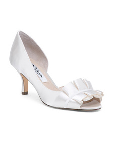 NINA Ruffle Satin Pumps