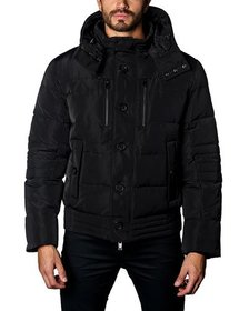 Jared Lang Semi-Fitted Snap-Hood Puffer Jacket