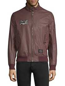 Belstaff Ashburham Brit Bomber Jacket RECTORY RED