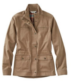 LL Bean Classic Utility Jacket, Flannel-Lined