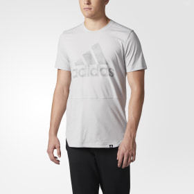 Adidas Badge of Sport Striped Burnout Tee