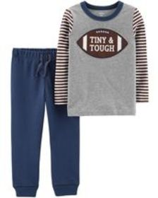 Osh Kosh Toddler Boy2-Piece Football Tee & French