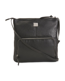 KOOBA Elsa Triple Zip Leather Crossbody