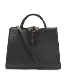 ALMALA Made In Italy Leather Queen Grace Satchel