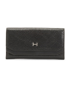 HALSTON June Textured Double Flap Wallet