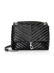Rebecca Minkoff Edie Bead-Chain Leather Flap Shoul