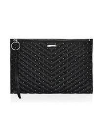 Rebecca Minkoff Large Edie Quilted Chevron Clutch