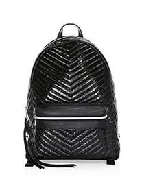 Rebecca Minkoff Pippa Quilted Chevron Backpack BLA