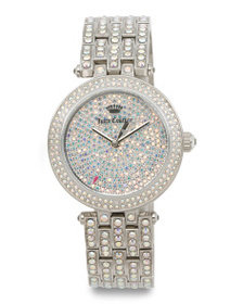 JUICY COUTURE Women's Cali Crystal Covered Bracele