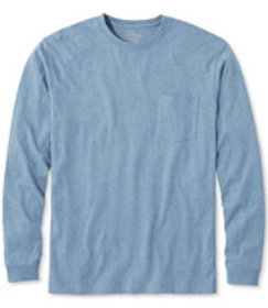 LL Bean Carefree Unshrinkable Tee with Pocket, Tra