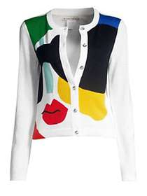Alice + Olivia Ruthy Stace Colorblock Face Cardiga